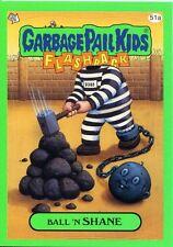 Garbage Pail Kids Flashback Series 3 Green Parallel Base Card 51a Ball 'N SHANE