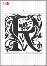 Beautiful Alphabet Letter R Stencil MYLAR A4 sheet strong reusable Craft ArtDeco