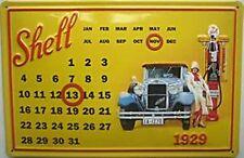 Shell Calendar embossed steel sign   (hi 3020)