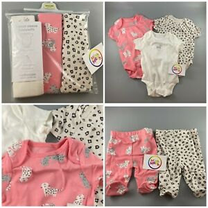 baby girls mothercare animal print 3 pack bodysuits vests or leggings trousers