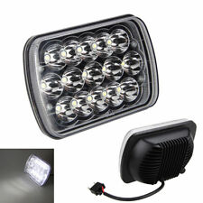 7X6'' Chips 15 LED HID White Light Crystal Clear Sealed Beam Headlamp Headlight