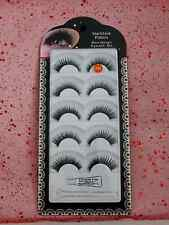 10 Pair Glossy Black Human Hair False Eyelashes 069 Fake Natural Soft Long Thick