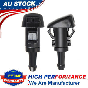 2 Pack Windshield Wiper Water Spray Jet Washer Sprayer Nozzle For Chrysler Dodge