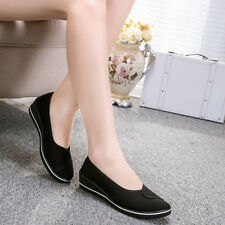 Women's Flat Comfort Canvas Slip on Loafers Casual Nurse Boat Shoes Moccasins