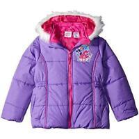 Hasbro Girl's Little Pony Puffer Polyester Jacket, Size 6