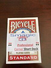 Corner Short Deck, Single Cut - Magic Card Trick - Bicycle Red  - Index