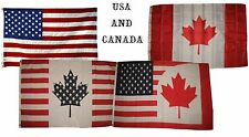 3x5 3'x5' Wholesale Lot Set USA American Canada Canadian Friends 4 Flags Flag