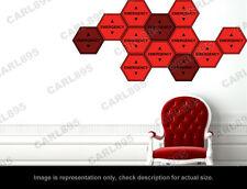 Evangelion - EMERGENCY Warning Wall Art Applique Stickers