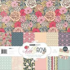 Kit Collection scrapbooking KaiserCraft LULU & ROY: 12 papiers 30x30cm+ stickers