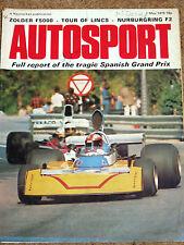 Autosport 1/5/75* SPANISH GP - TOUR of LINCS - ZOLDER F5000 - NURBURGRING F2