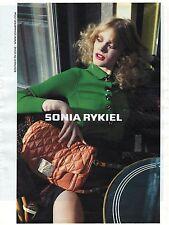 PUBLICITE 2011  SONIA RYKIEL sacs
