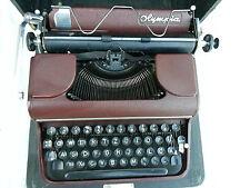 Schreibmaschine Reiseschreibmaschine Olympia rot