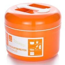 My.Yo stromloser Joghurtbereiter, BPA-frei, Joghurtmaschine ohne Strom, Orange