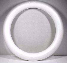 "LARGE CRAFT STYROFOAM DOOR WREATH ROUND CIRCLE FORM PROJECT RING 14"" X 1 3/4"""