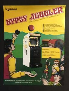 RARE VTG ARCADE MACHINE  FLYER – GYPSY JUGGLER – GAME, MEADOWS, USA, 1978.