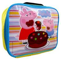 PEPPA PIG & GEORGE INSULATED THERMAL LUNCH BAG HANDLE BOX SCHOOL GIRLS YELLOW