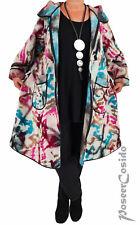 Poco LAGENLOOK Mantel Jacke Wolle L-XL-XXL 44 46 48 50 52 54 56 58 bunt