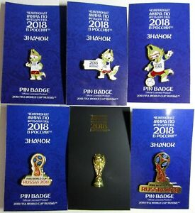 Set ❤️6❤️pins World Cup FIFA 2018 Russia football soccer souvenir wolf Zabivaka