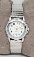 Ladies Timex Indiglo Stainless Steel Silver Tone Easy Reader Analog Watch C6