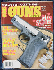 Magazine *GUNS* April, 1993 Best POCKET PISTOLS: Pistolet MAKAROVA, Walther PPK