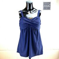 Womens Size L Navy Blue Tankini Top