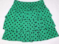 Gymboree Polka Dot Green Tear Skort/Skirt Size 12