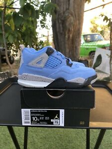 Nike Air Jordan Retro 4 University Blue Toddler TD Size 10C *In Hand* Ships ASAP