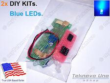 x2 BLUE LED Light Chaser Sequencer Follower Scroller DIY KIT NE555 CD4017 - USA