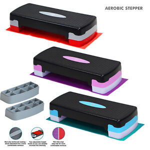 Aerobic Stepper Yoga Step Board Gym Fitness Exercise Cardio Adjustable Blocks