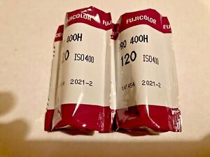 Fuji Fujicolor 400H 120 TWO ROLLS FROZEN FRESH 02/2021 Date SEALED
