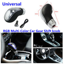 Touch Activated Sensor 7 Colors RGB LED Light USB Charge Car Gear Shift Knob Kit