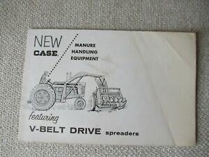 Case V-Belt manure spreader brochure