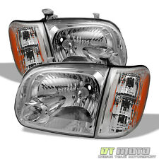 2005-2006 Toyota Tundra 05 06 07 Sequoia Replacement Headlights Headlamps Corner