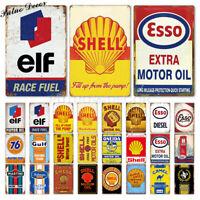 Vintage métal fer signes petrol rétro Garage décor Plaque métal Vintage Bar Pub