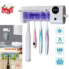 Led Rechargeable 4 bulbs Toothbrush Holder Timing Usb Home Bathroom