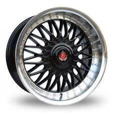 "AXE EX10 18"" X 8"" 9"" Inch Alloy Wheels White Polish Lip Staggered 4x100 1 Set"