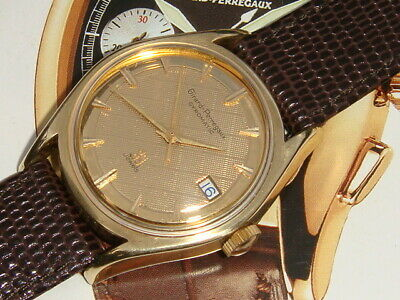 Girard Perregaux solid 18ct textured dial capped 39 jwl Gyromatic vintage watch