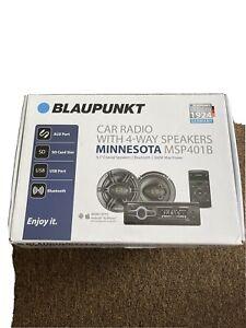 """Blaupunkt MSP401B 1DIN FM AM USB AUX Bluetooth Car Radio w/ 6.5"""" 4-Way Speakers"""