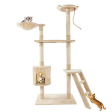 """New listing 60"""" Scratching Post Cat Tree House Condo Tower Play Kitty Climbing Furniture Pet"""