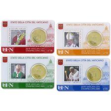 ** Coincard 2018 Vaticaan Vaticano City Stamp&Coin card No18-No21 /50 cents**