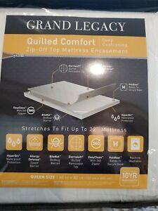 Grand Legacy Quilted Deep Cushion Zip off Top Full Mattress Encasement