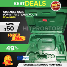 Greenlee Hydraulic Pump Knockout Set Case Preowned Only Case