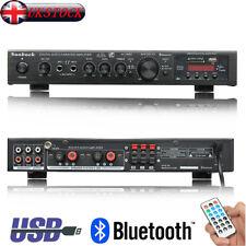 298BT Bluetooth Stereo Audio Power Amplifier HiFi 5CH Remote Control FM USB SD
