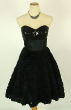 Jovani Size 10 Cruise $400 Summer Gown Prom Formal Black Short Strapless Bubble