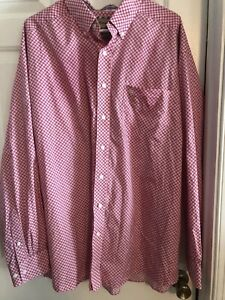 Ariat Wrinkle Free Long Sleeve Button Down Shirt Mens Size XXL