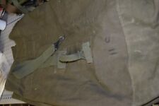 Duffel Bag Vintage U.S. Military Canvas Green Duffle bag Used