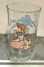 Holly Hobbie juice glass add a little love to all you do 1989 Hh bunny