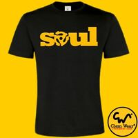 SOUL tee t shirt T-shirt northern DJ decks music vinyl Motown record funk MOD