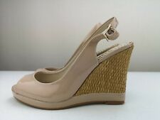 NEXT Ladies Women Nude Wedge High Heel Sandal Shoe Flip Flop Size 4 37
