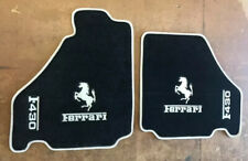 2004 - 2009 FERRARI F430 Front Floor Mat Set - Black with White
